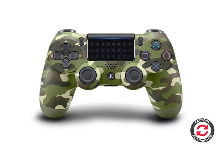 PlayStation Dualshock 4 Controller (Green Camouflage, Refurbished)