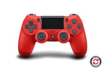 PlayStation Dualshock 4 Controller (Red, Refurbished)