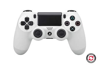 PlayStation Dualshock 4 Controller (White, Refurbished)