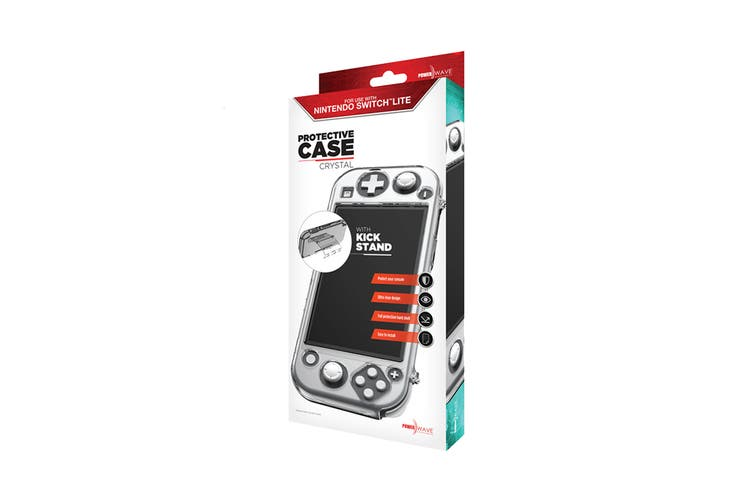 Powerwave Switch Lite Crystal Protective Case with Kick Stand