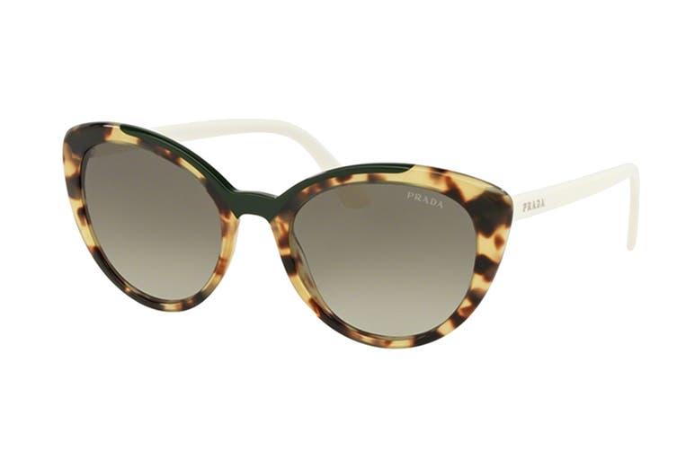 Prada 0PR02VS Sunglasses (Havana) - Green Gradient