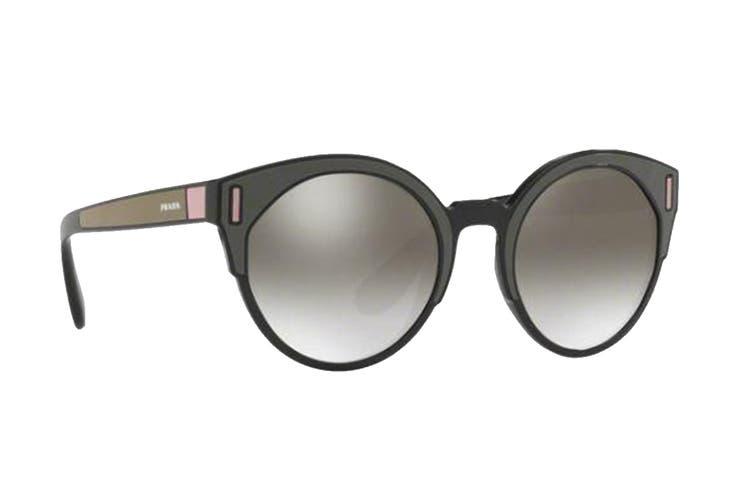 Prada 0PR03US Sunglasses (Black/Brown/Pink) - Grey