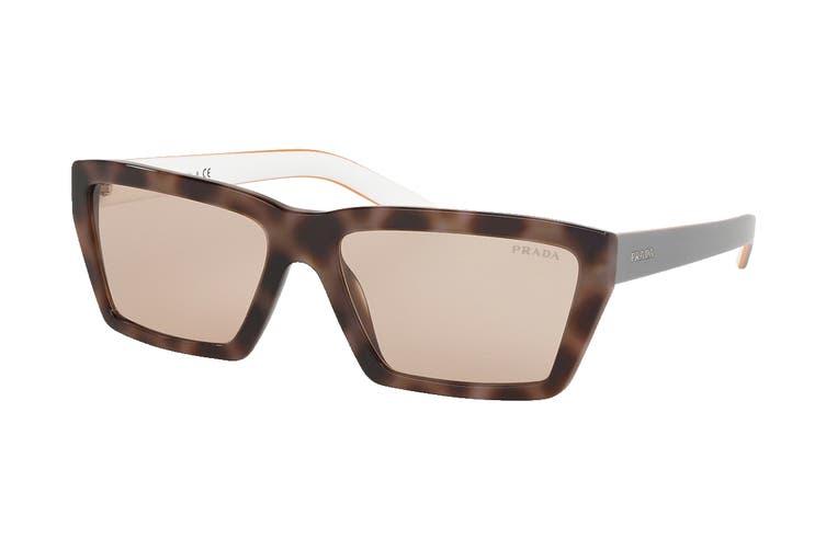 Prada 0PR04VS Sunglasses (Spotted Dark Brown) - Light Brown