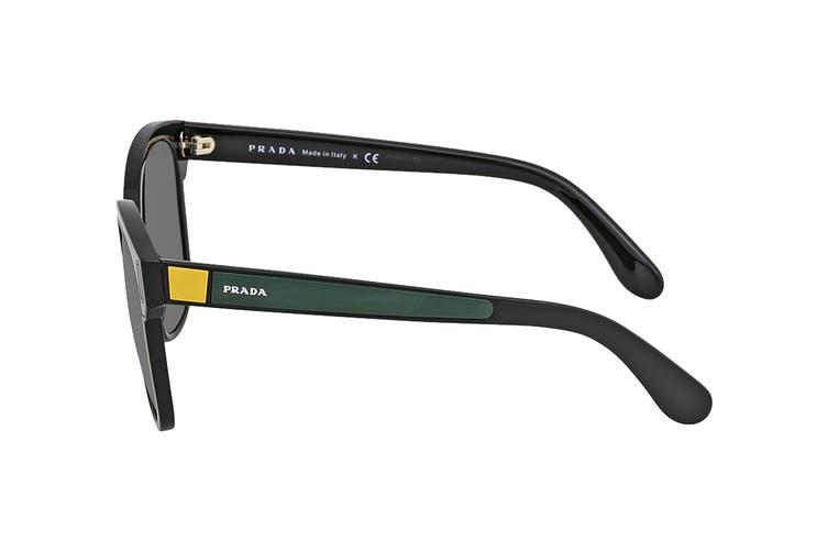 Prada 0PR05US Sunglasses (Black/Grey/Yellow) - Grey
