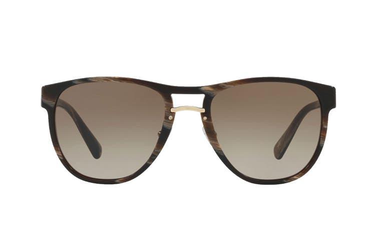 Prada 0PR09US Sunglasses (Brown Dark Horn) - Brown Gradient