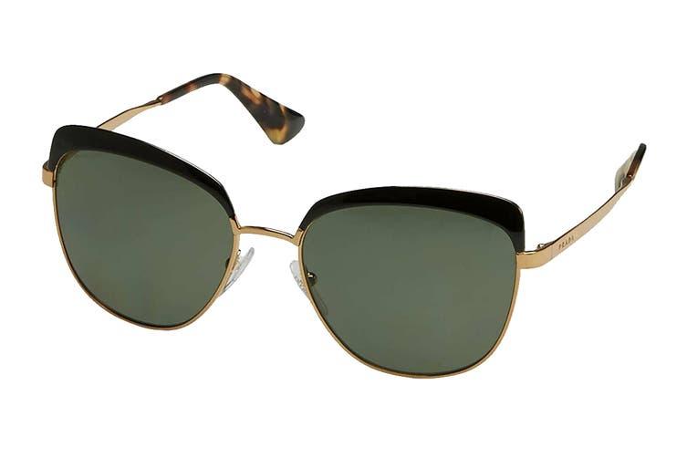 Prada 0PR51TS Sunglasses (Antique Gold/Black) - Green