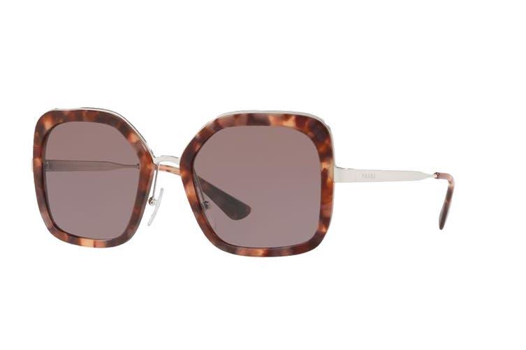 Prada 0PR57US Sunglasses (Pink/Havana) - Purple Brown