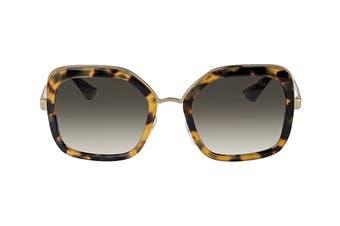 Prada 0PR57US Sunglasses (Medium/Havana) - Green Gradient