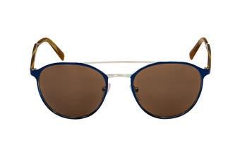 Prada 0PR62TS Sunglasses (Blue/Silver) - Brown