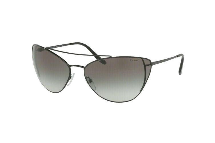 Prada 0PR65VS Sunglasses (Black) - Grey Shaded