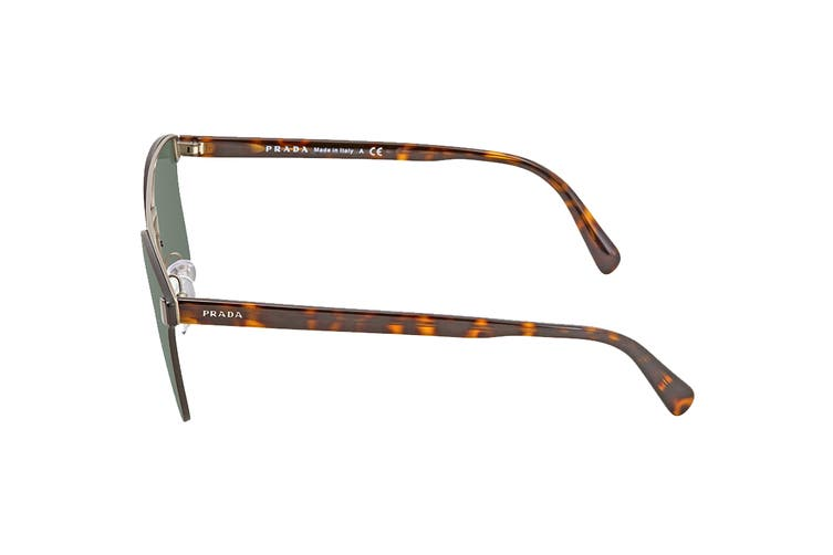 Prada 0PR67TS Lettering Logo Sunglasses(Havana Brown) - Green