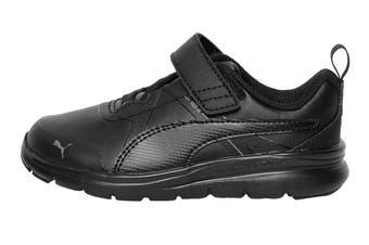 Puma Boys' PUMA Flex Essential SL V Pre-School Shoe (Puma Black-Puma Black, Size 2C US)