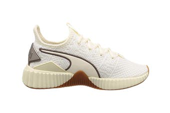 PUMA Women's Defy Luxe Shoe (Whisper White/Metalic Ash)