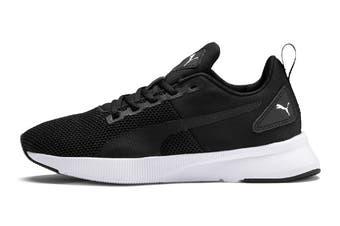Puma Boys' Flyer Runner Junior Shoe (Puma Black-Puma White)