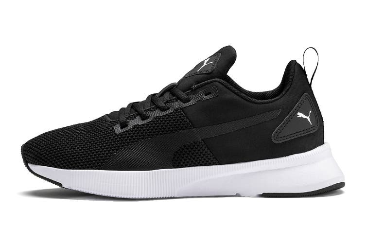 Puma Boys' Flyer Runner Junior Shoe (Puma Black-Puma White, Size 7C US)