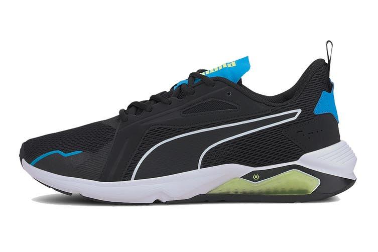 Puma Men's LQDCELL Method Shoe (Puma Black-Nrgy Blue-Fizzy Yellow, Size 10)