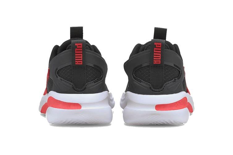 Puma Boys' RIFT AC Pre-School Shoe (Puma Black-High Risk Red, Size 1C US)
