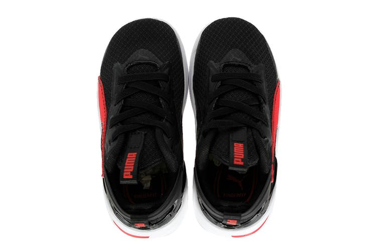 Puma Boys' RIFT AC Infant Shoe (Puma Black-High Risk Red, Size 4C US)