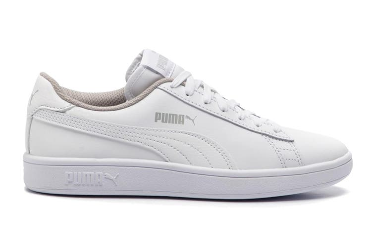 Puma Boys' Puma Smash v2 L Junior Shoe (Puma White-Puma White, Size 5C US)