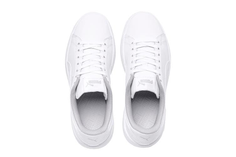 Puma Boys' Puma Smash v2 L Junior Shoe (Puma White-Puma White, Size 6C US)