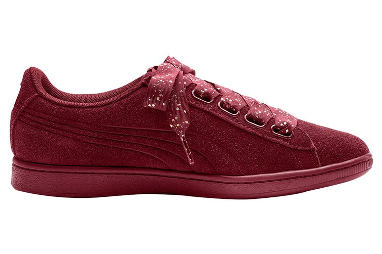 PUMA Women's Vikky Ribbon Dots Shoe (Pomegranate, Size 7.5)