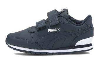 Puma Boys' ST Runner v2 L V Pre-School Shoe (Peacoat-Peacoat-Puma White)