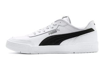Puma Men's Caracal Shoe (Puma White-Puma Black, Size 10)