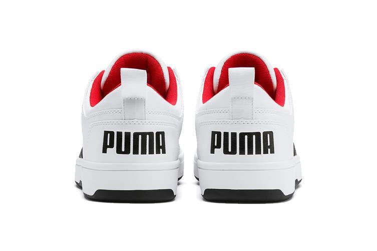Puma Men's Puma Rebound LayUp Lo SL Shoe (Puma White-Puma Black-High Risk Red, Size 10)