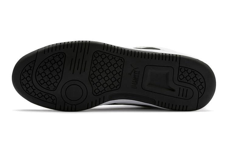 Puma Men's Puma Rebound LayUp Lo SL Shoe (Puma White-Puma Black-High Risk Red, Size 11)