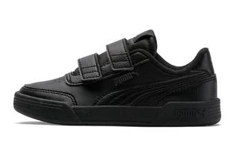 Puma Boys' Caracal V Pre-School Shoe (Puma Black-Puma Black-Dark Shadow, Size 13.5C US)