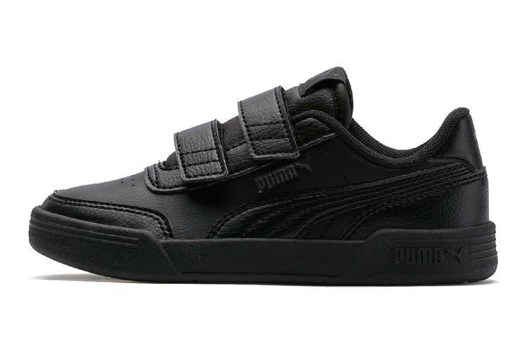Puma Boys' Caracal V Pre-School Shoe (Puma Black-Puma Black-Dark Shadow, Size 2.5C US)