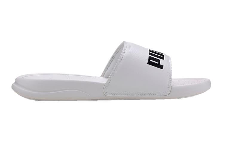 Puma Unisex Popcat 20 Slide (Puma White-Puma Black, Size 7)