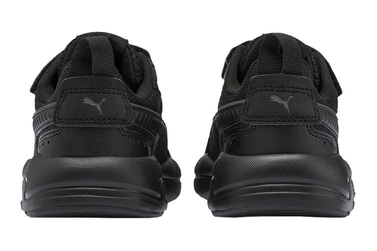 Puma Boys' X-Ray AC Pre-School Shoe (Puma Black-Dark Shadow, Size 3C US)