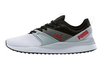 Puma Men's Pacer Next FFWD Shoe (Puma White-Puma Black-High Rise-High Risk Red, Size 7)