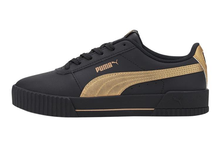 Puma Women's Carina Meta20 Shoe (Puma Black-Puma Team Gold, Size 7)