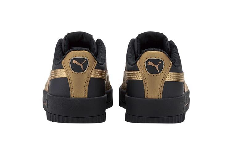Puma Women's Carina Meta20 Shoe (Puma Black-Puma Team Gold, Size 9)