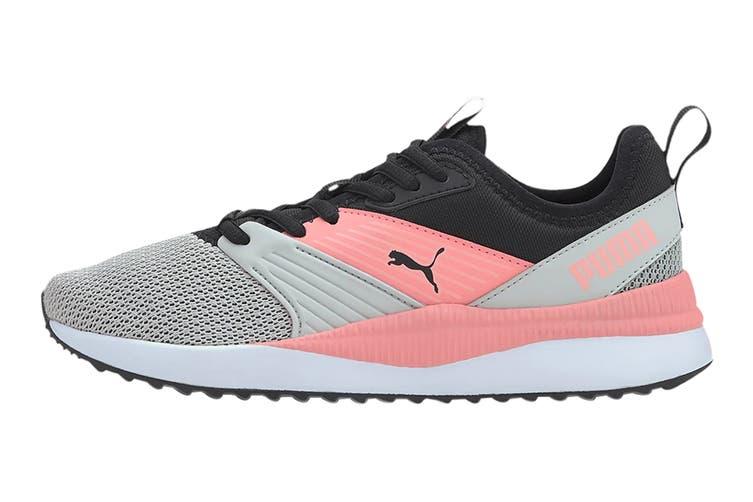 Puma Girls' Pacer Next FFWD Junior Shoe (Puma Black-Salmon Rose-Gray Violet, Size 4C US)