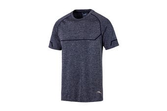 Puma Men's Energy Seamless Tee (Peacoat Heather)