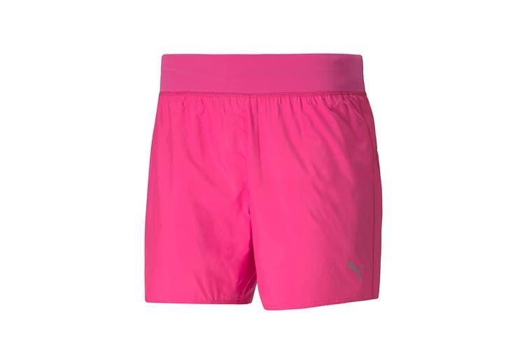 "Puma Women's Ignite 5"" Short (Luminous Pink, Size XL)"