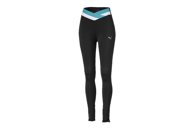 Puma Women's HIT Feel It 7/8 Tight (Puma Black/Milky Blue, Size L)