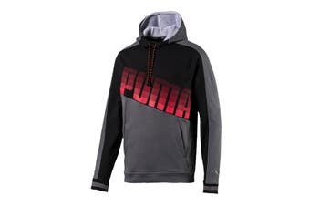 Puma Men's Collective Hoodie (Castlerock/Puma Black, Size S)