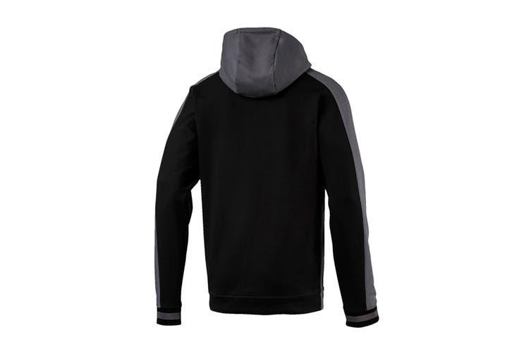 Puma Men's Collective Hoodie (Castlerock/Puma Black, Size XXL)