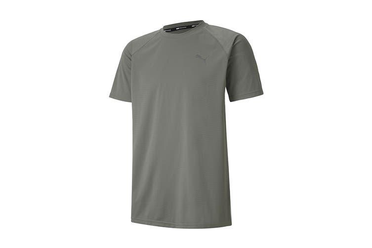 Puma Men's PUMA SS Tech Tee (Ultra Gray, Size XXL)