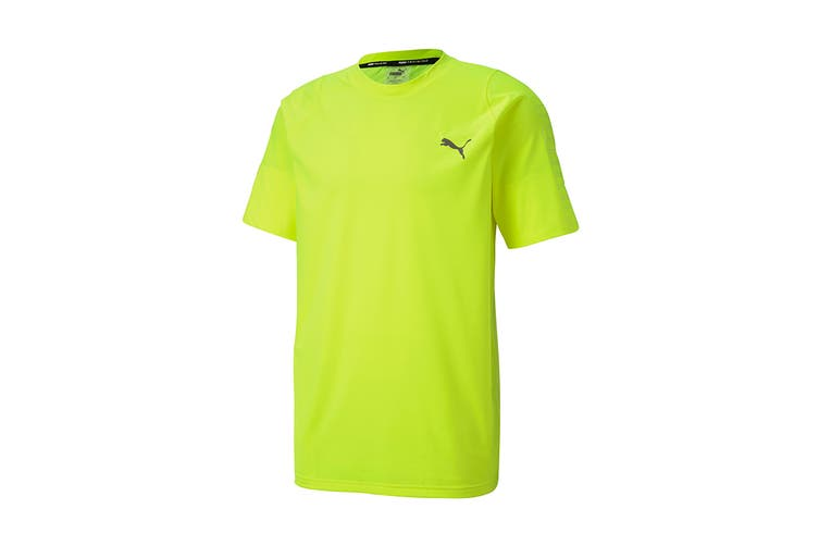 Puma Men's Power Thermo R+ Tee (Yellow Alert, Size L)