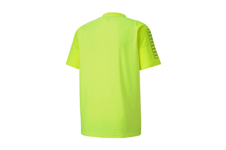 Puma Men's Power Thermo R+ Tee (Yellow Alert, Size S)