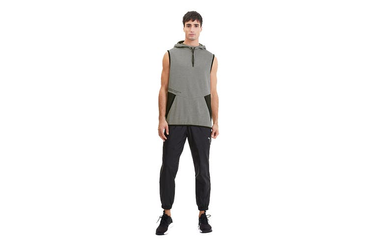 Puma Men's Reactive SLVS Hoodie (Medium Gray Heather, Size L)