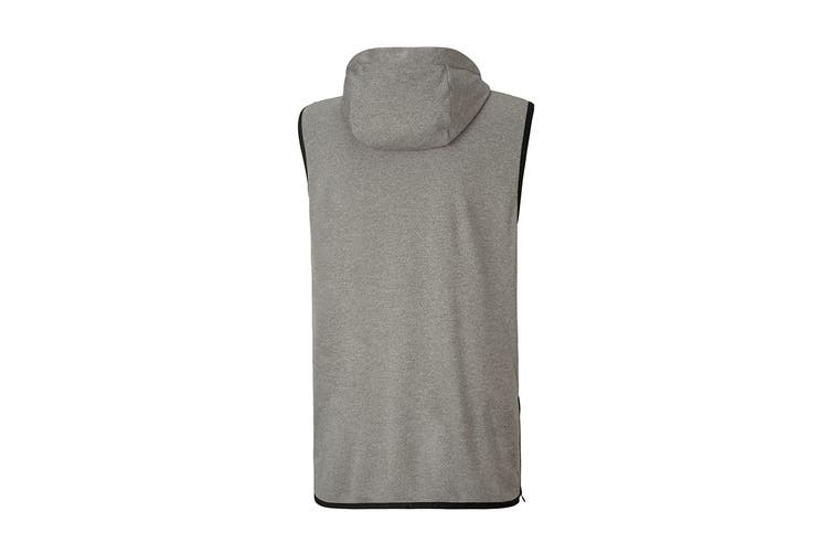 Puma Men's Reactive SLVS Hoodie (Medium Gray Heather, Size S)