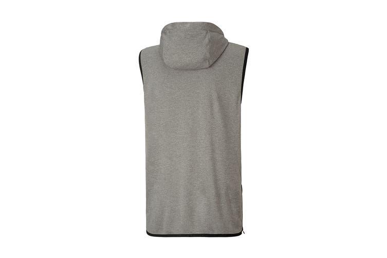 Puma Men's Reactive SLVS Hoodie (Medium Gray Heather, Size XL)