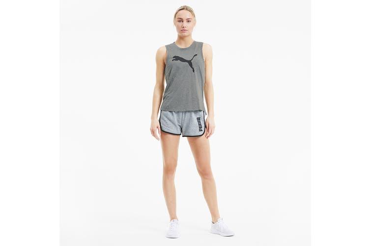 Puma Women's Train Favorite Cat Muscle Tank (Medium Gray Heather, Size XL)