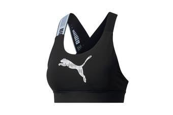 Puma Women's Mid Impact Feel it Bra (Puma Black)